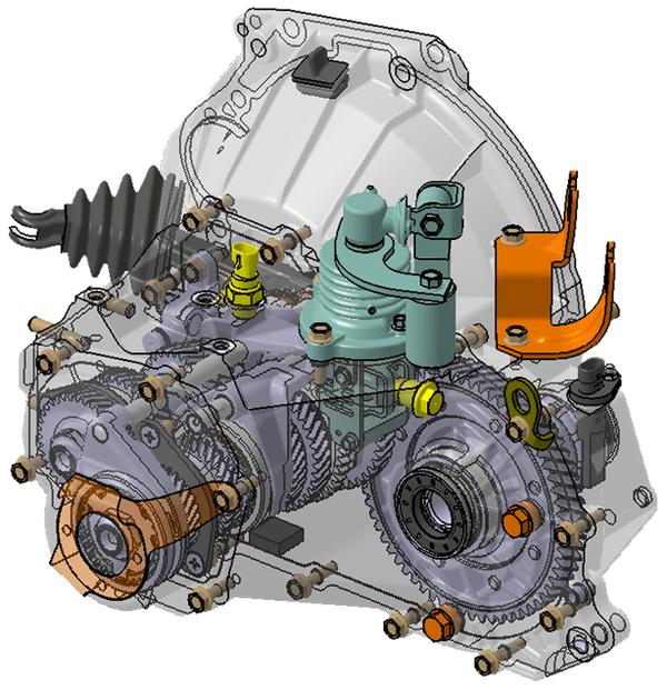 Иллюстрация устройства КПП Лады Калины 2