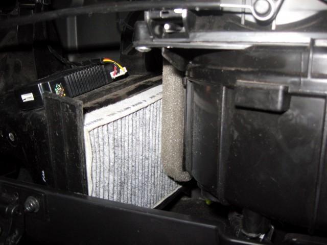 Расположение фильтра в автомобиле Hyundai Getz