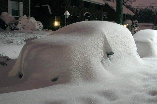 Автомобиль в зимнем «капкане»