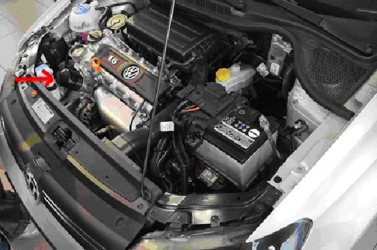 Месторасположения масляного фильтра на примере Volkswagen
