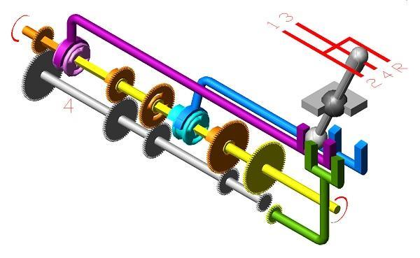 IV передача. Схема коробки