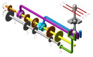 Схема коробки передач - нейтральная