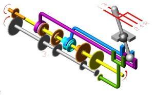 Схема коробки передач - III передача