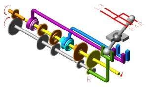 Схема коробки передач - R — задний ход