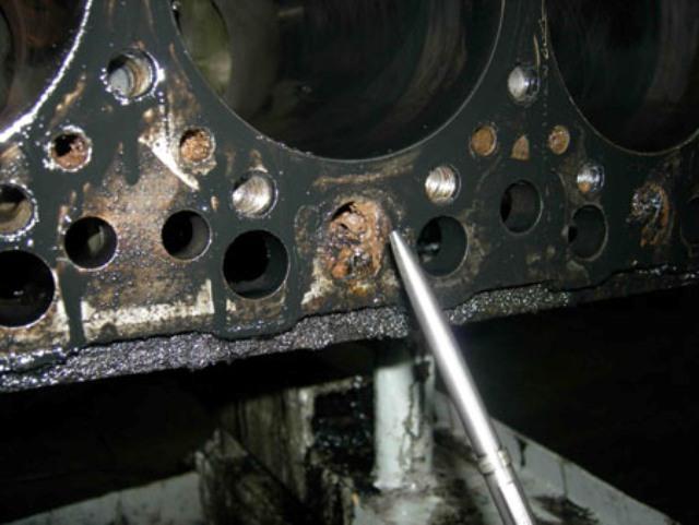Последствия смешивания охлаждающих жидкостей: засорение двигателя