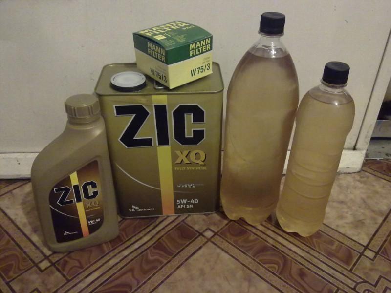 Всесезонная моторная жидкость «ZIC xq 5w-40» и масляный фильтр