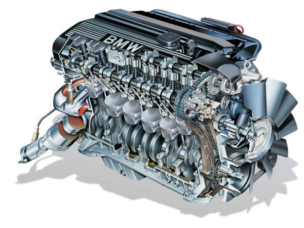 Модель бензинового двигателя