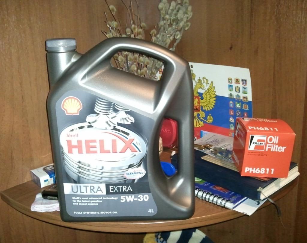 Моторная жидкость Shell Helix Ultra HX8 5w30