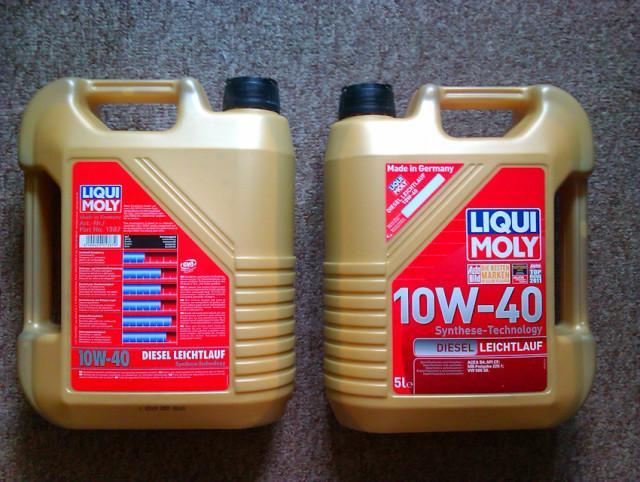 Моторная жидкость Ликви Моли в четырехлитровых канистрах для использования в дизельных двигателях