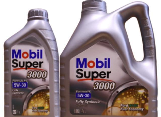 Жидкость Mobil 5W-30 в четырехлитровой упаковке