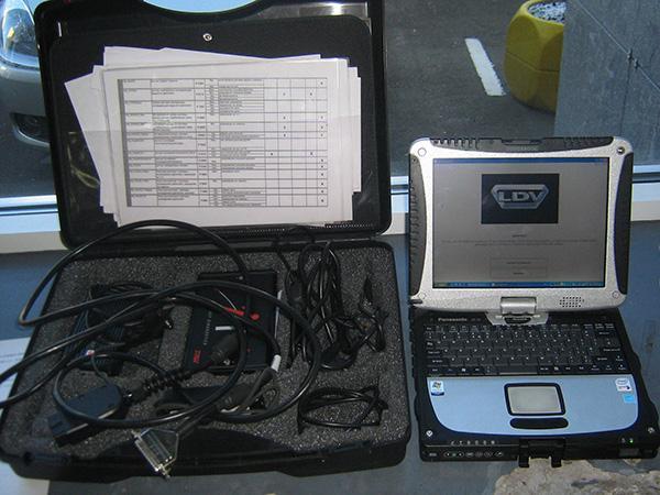 Ноутбук для проведения диагностики транспортного средства