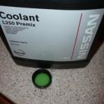 Оригинальная охлаждающая жидкость L250 для Ниссан в пятилитровой упаковке