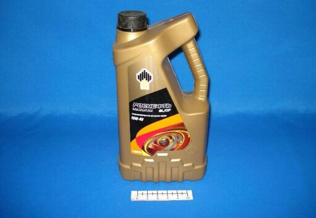 Моторное масло Роснефть 10W-40 в четырехлитровой канистре