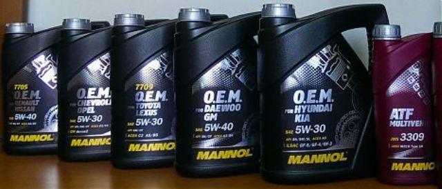 Линейка моторных жидкостей Mannol
