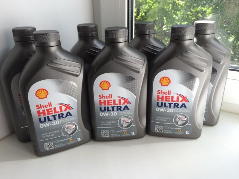 ММ Shell Helix Ultra в литровых канистрах