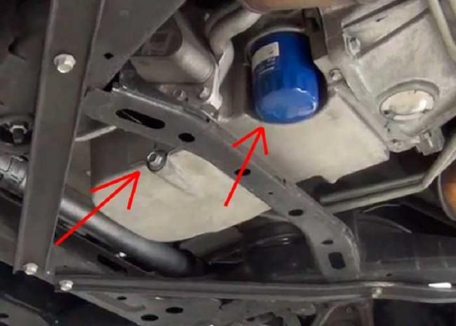 Положение фильтра в машине