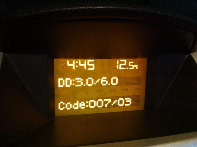 Код ошибки на панели приборов, появившийся в результате самостоятельной диагностики