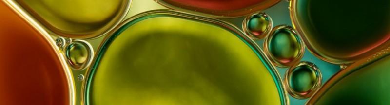 Макро фото масла в воде