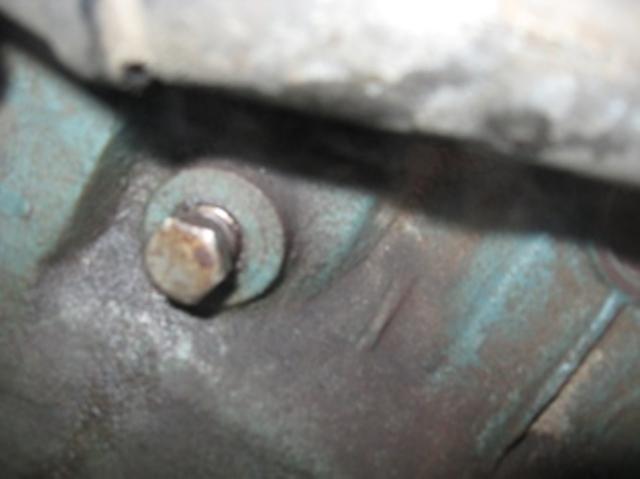 Пробка на мотороном блоке