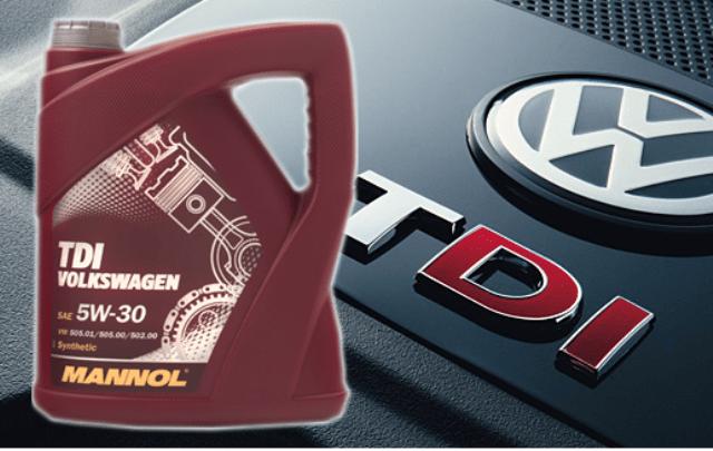 Жидкость для двигателя Mannol - одобренная для залива в автомобили Фольксваген