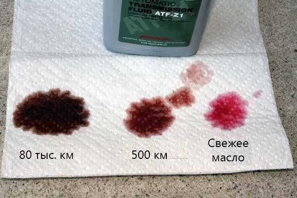 Определение качества масла по цвету