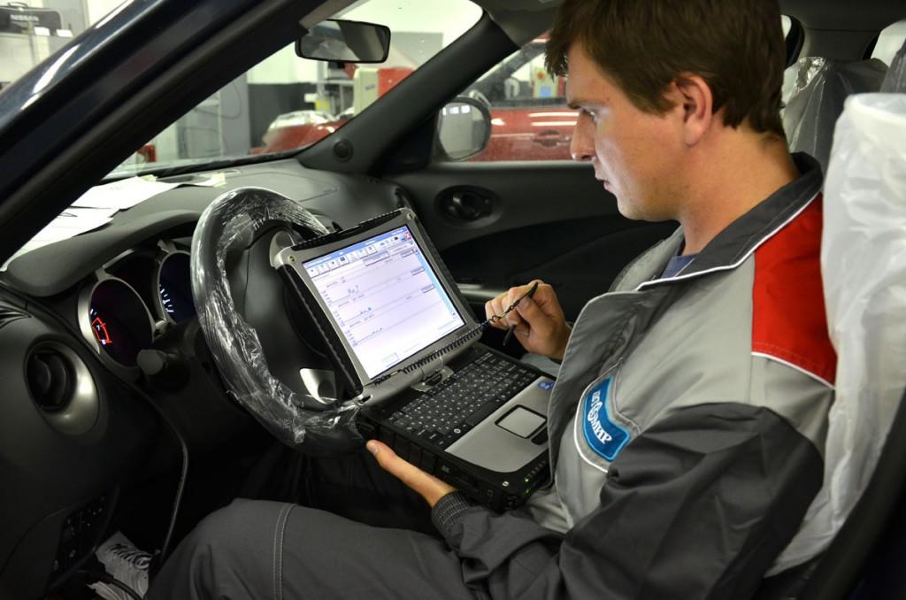 Проведение диагностики специалистом сервисного центра Nissan