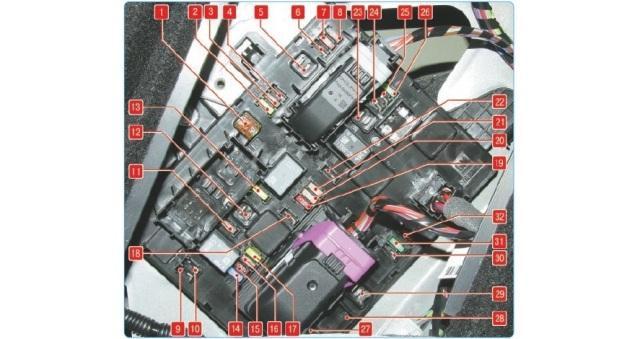 Схема электропредохранителей в багажном отделении