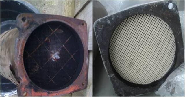 Сажевый элемент очистки: до и после промывки