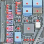 Схема БП, который находится в подкапотном пространстве транспортного средства Hyundai Solaris. С 1 по 9 номер на схеме выделен галвная составляющая часть БП.