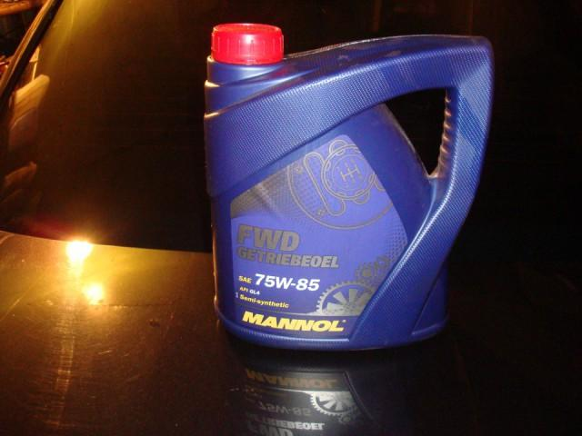Трансмиссионная жидкость для механических коробок передач Манол 75w85 в четырехлитровой канистре