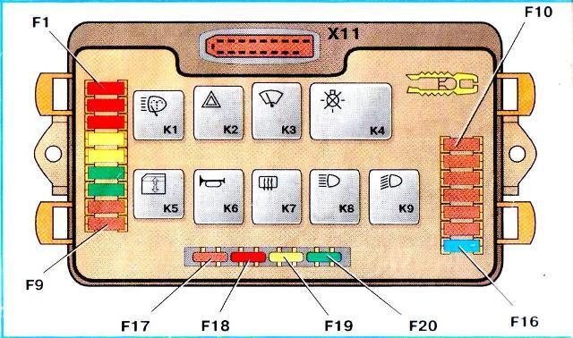 Электросхема нового типа БП. Такие устройства устанавливаются на автомобили ВАЗ 2109 с 1998 года.