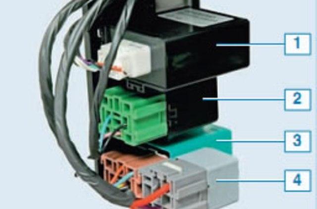 Схема блока реле под панелью