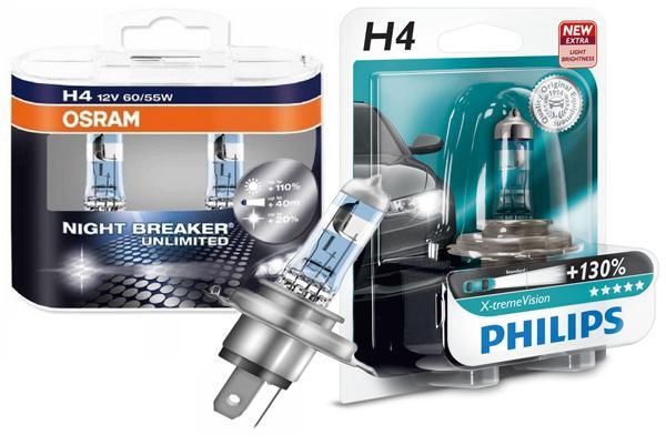 Лампы H4 Philips для Лада Гранта