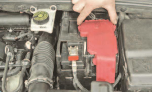 Накладка аккумулятора с фиксаторами