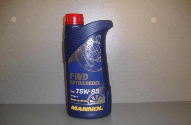 Трансмиссионная жидкость для механических коробок передач Манол 75w85 в литровой канистре