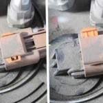 Затем отсоедините разъем с проводами, подключенный к насосу
