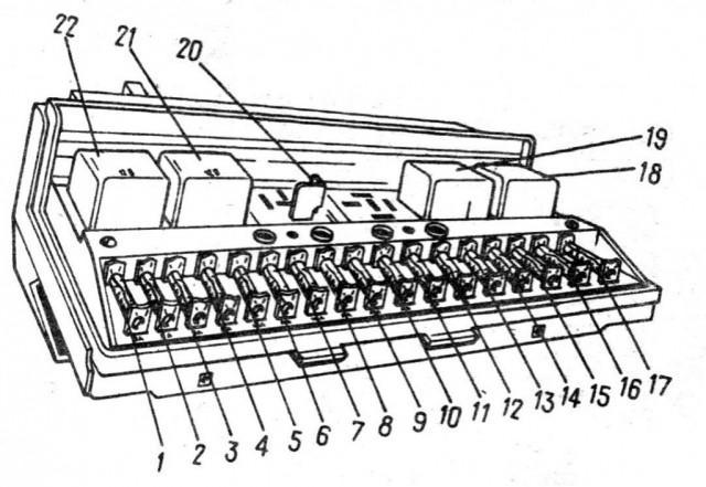 Схема БП старого типа, устанавливаемого на более ранние версии ВАЗ 2107