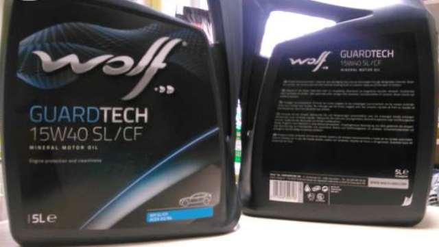 Моторное масло Wolf GuardTech 15W-40