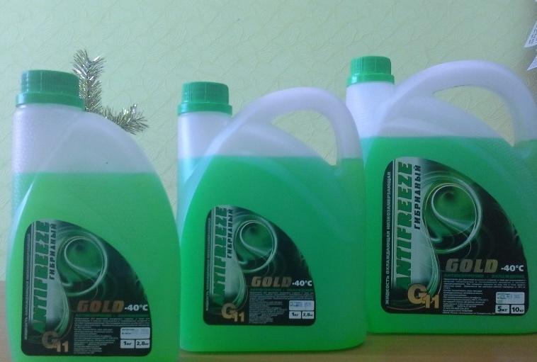 Охлаждающая жидкость, соответствующая стандарту G12 зеленого цвета