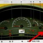 Чтобы проверить свое авто на наличие поломок, зажмите кнопку суточного пробега и удерживайте ее, одновременно включив ключ зажигания. В это время все стрелки пройдут от нуля до максимума.