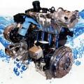 Двигатель в охлаждающей жидкости