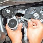 4. Демонтируйте натяжной механизм