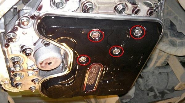 Болты крепления фильтра коробки автомат