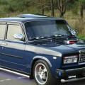 Автомобиль ВАЗ 2107 синего цвета