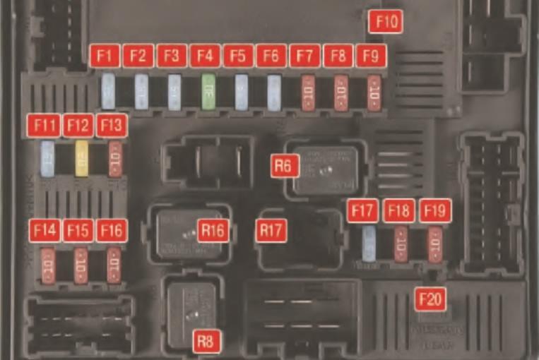 Задний БП моторного отсека