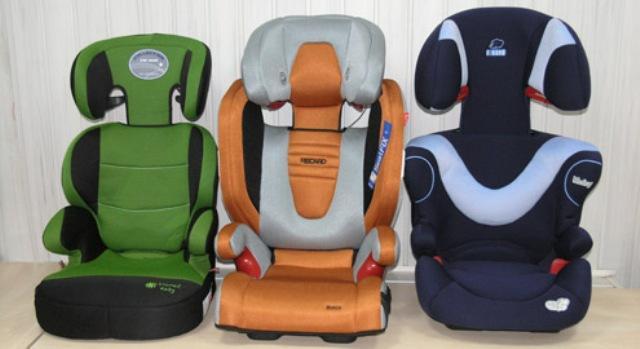 Детские кресла разных классов