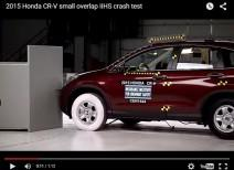 Краш-тест Honda CR-V small overlap 2011 и 2015 (IIHS)