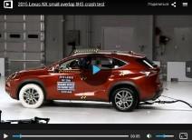Краш-тест Lexus NX small overlap (IIHS)