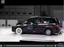 Краш-тест Mazda 5 и Mazda CX-5 moderate overlap (IIHS)