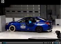 Краш-тест Subaru WRX small overlap (IIHS)